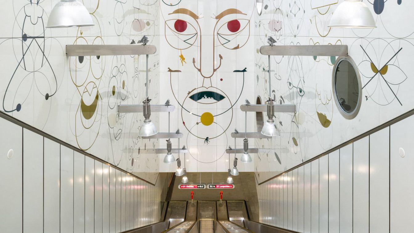 U-Bahn Kunst Yves Netzhammer