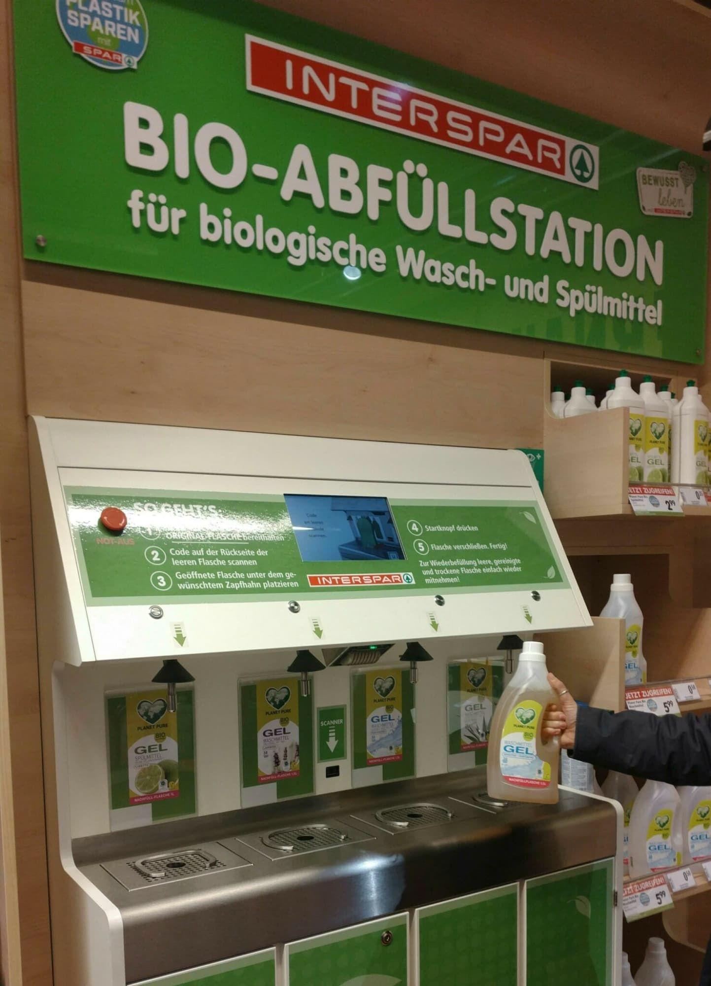 Abfuellstation für Waschmittel