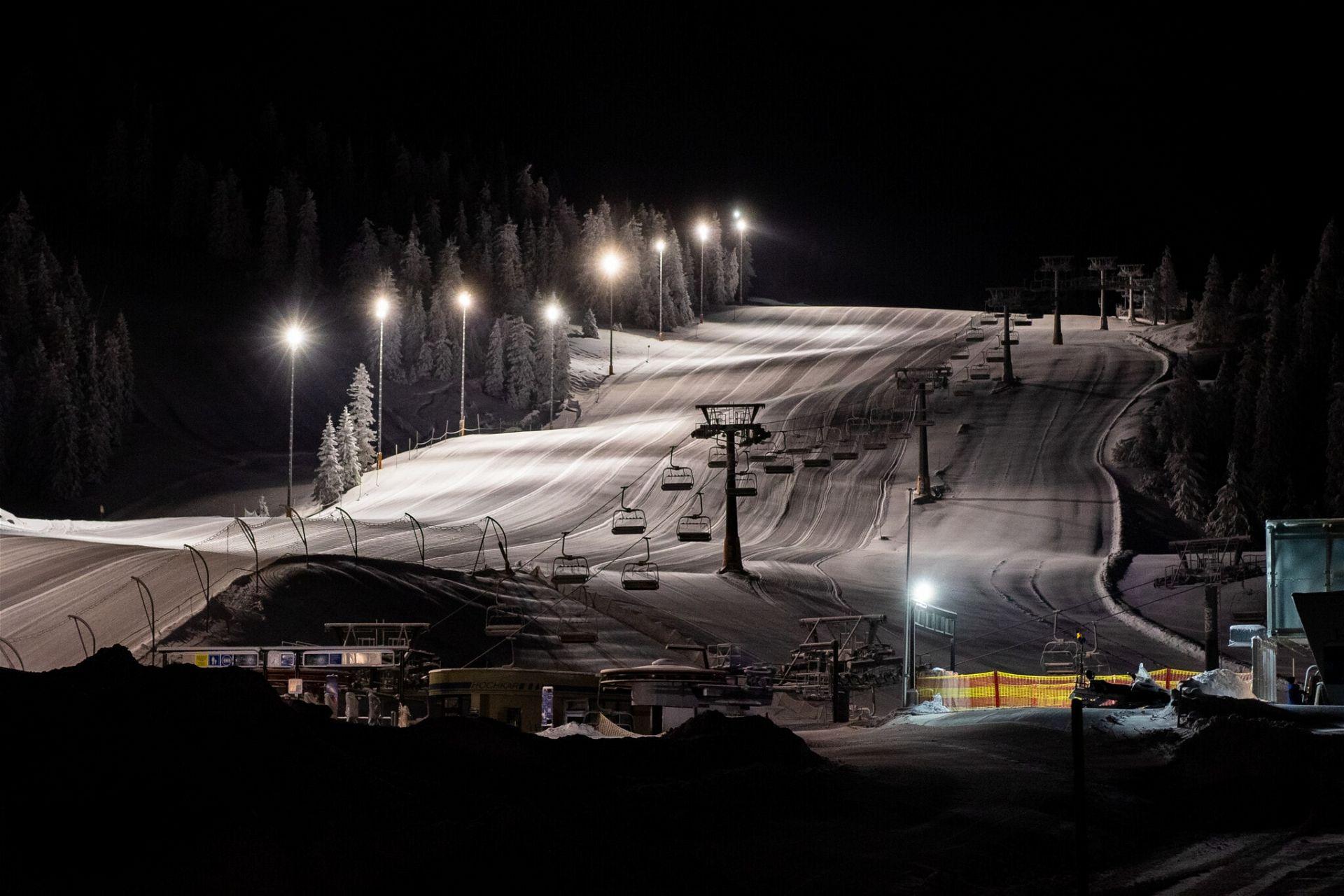 Skigebiet Göstling Hochkar Flutlicht