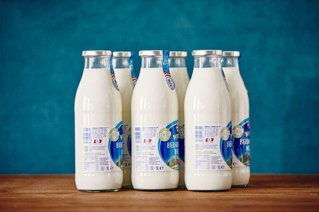 Mehrweg-Glasflasche Berglandmilch