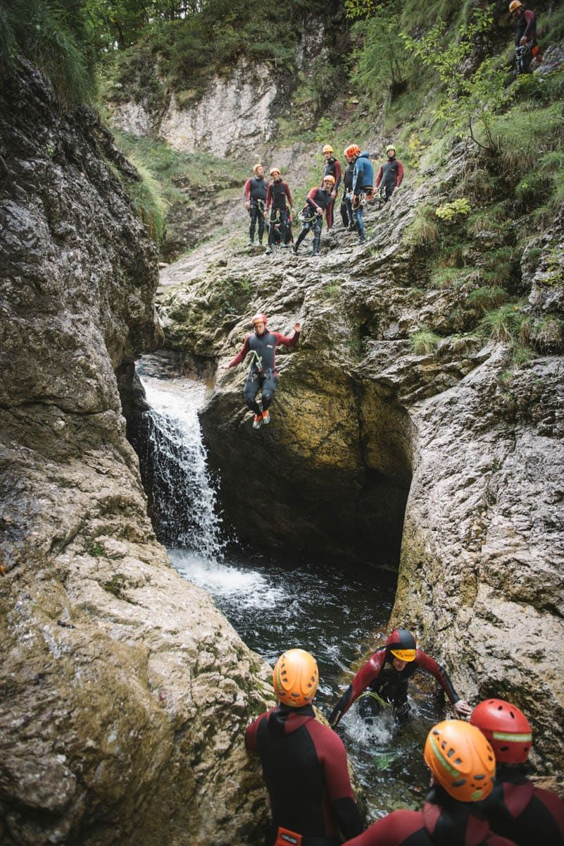 Canyoning in Palfau