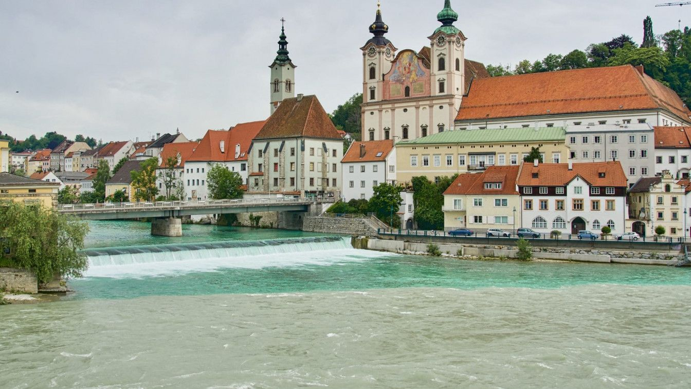 Steyr Stadt Fluss OÖ