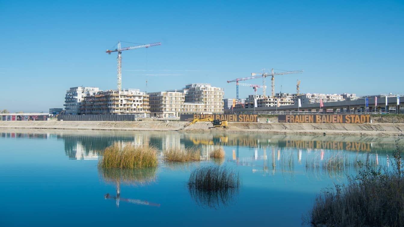 Frauen Bauen Stadt in der Seestadt Aspern