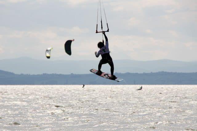 Kitesurfen am Neusiedler See