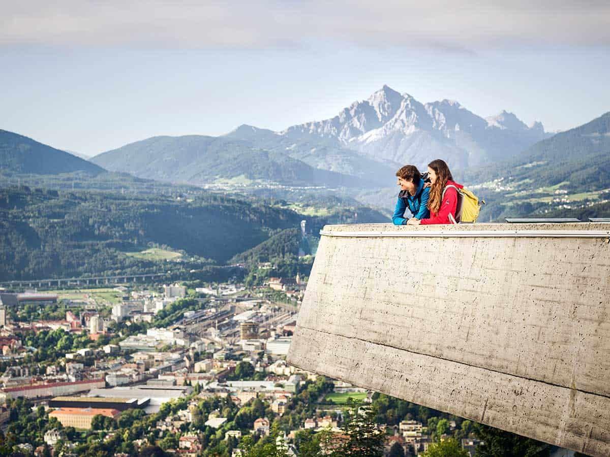 Panoramablick auf Innsbruck, Sponsored (c) Innsbruck Tourismus | Andre Schönherr | Ausblick von der Hungerburg