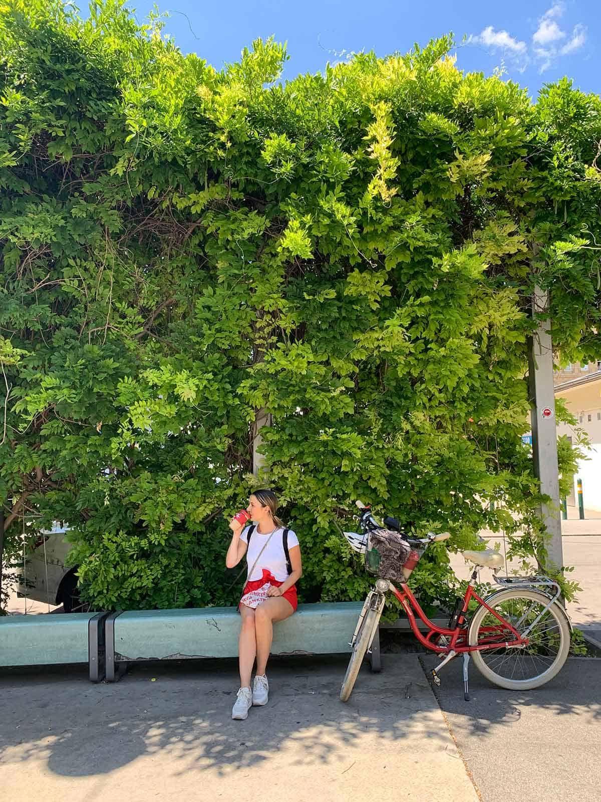 Sonne tanken am Volkertplatz mitten in der Leopoldstadt, Sponsored (c) Lisa Oberndorfer | 1000things
