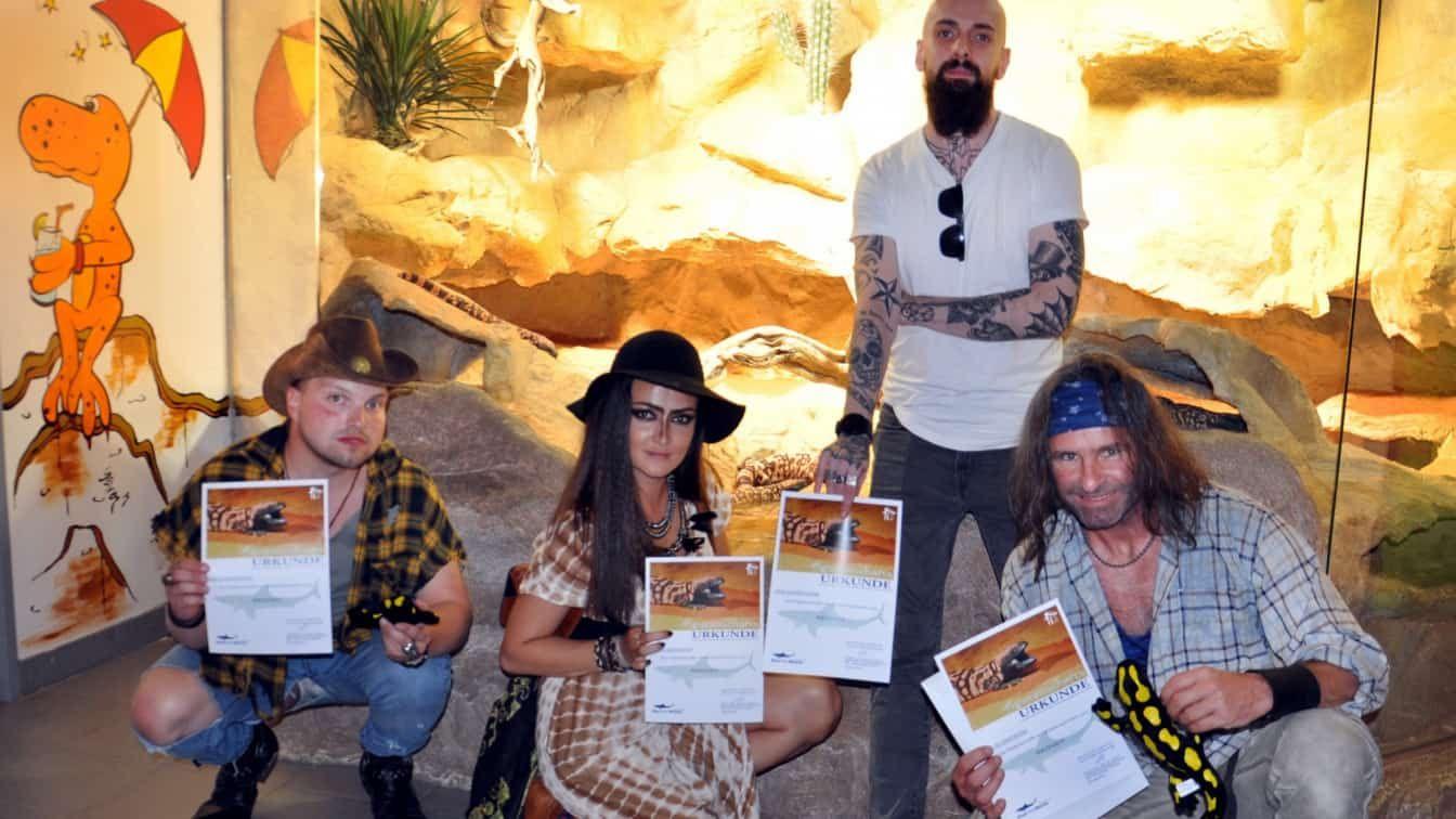 Die Band Rednex übernimmt eine Patenschaft für die Gila-Krustenechsen im Haus des Meeres   Pressefoto (c) Guenther Hulla   Haus des Meeres