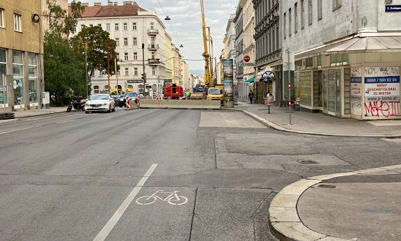 Schlechteste Radwege Wiens: Reinprechtsdorfer Straße (c) Alissa Hacker