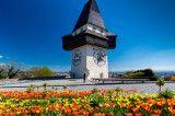 Graz Uhrturm im Fruhling