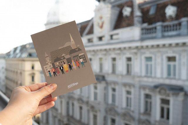 1000things Postkarte