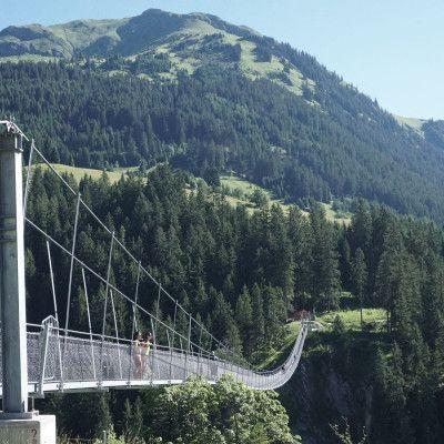 Hängebrücke Holzgau Lechtal Tourismus/Fotograf Gerhard Eisenschink
