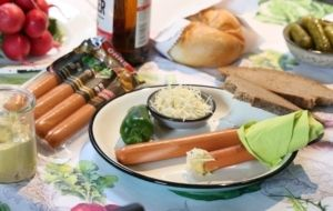 Picknicken mit die OHNE Spezialitäten