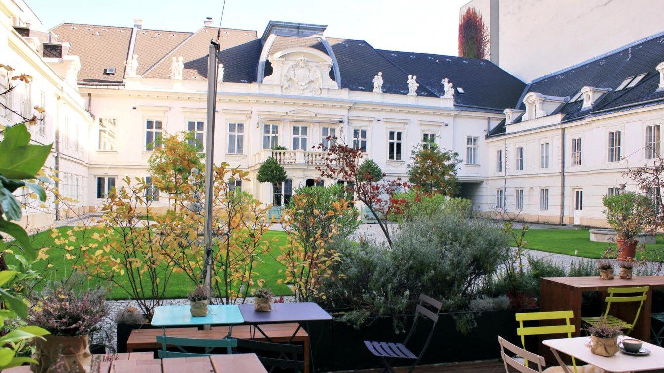 Ansicht des Gastgartens