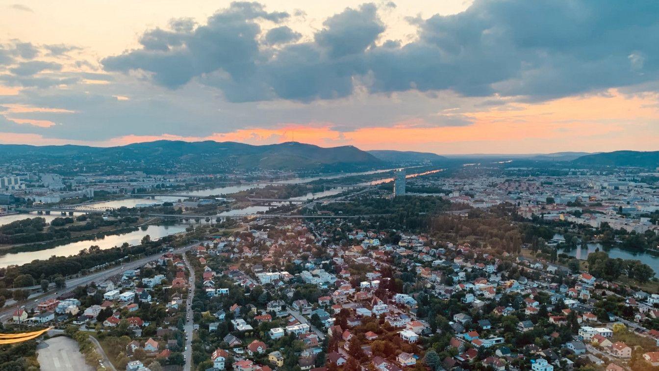 Aussicht von Donauturm auf Wien