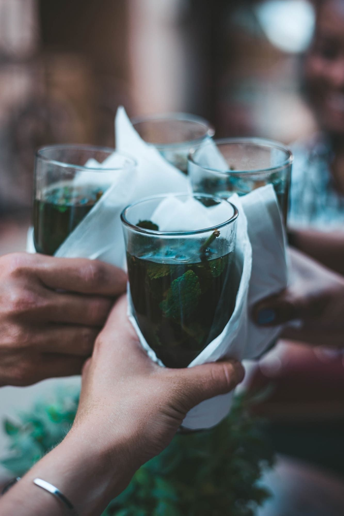 Glas ohne Strohhalm